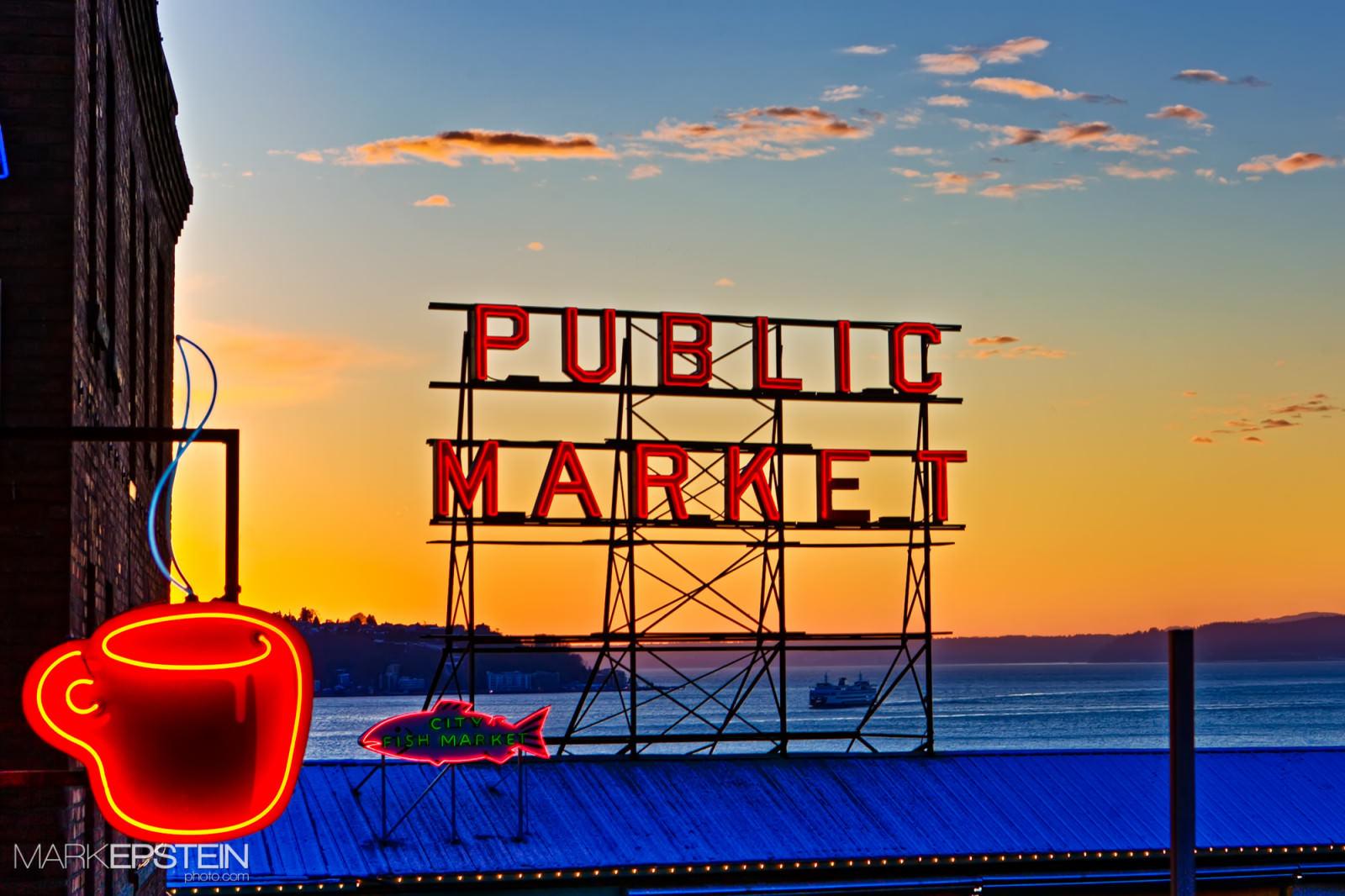 Mark Epstein Photo | Sunset at the Market